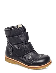 Boots - flat - with velcro - 1933 BLACK