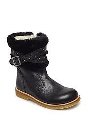 Boots - flat - zipper - 2504/2014/1604 BLACK/BLACK/BLA