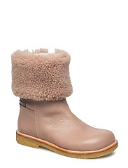 Boots - flat - with zipper - 2550/2019/1433 D. MAKEUP/POWDE
