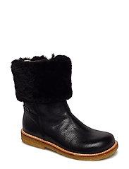 Boots - flat - with zipper - 2504/2014/1604 BLACK/BLACK/BLA