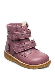 Boots - flat - with velcro - 2560/2012 PLUM/REFLEX