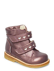 Boots - flat - with velcro - 1509/2012 LAVENDER SHINE/REFLE