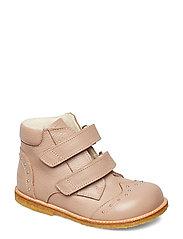 Boots - Flat - With Velcro Snørestøvletter Støvletter Rosa ANGULUS