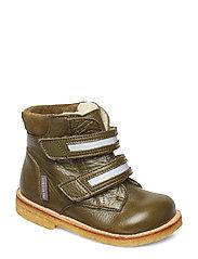 Boots - Flat - With Velcro Vinterstøvletter Med Borrelås Grønn ANGULUS