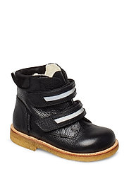Boots - flat - with velcro - 2504/2012/1163/2022 BLACK/REFL