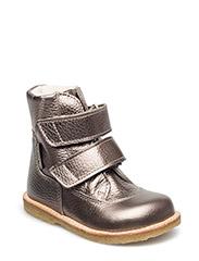 Boots - flat - with velcro - 1541/1541 BRONZE/BRONZE