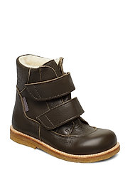 Boots - flat - with velcro - 1263 DARK OLIVE