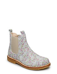 Booties - flat - with elastic - 2492/010 MULTI FLOWER/BEIGE
