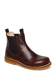Booties - flat - with elastic - 1562/002 ANGULUS BROWN/ MEDIUM
