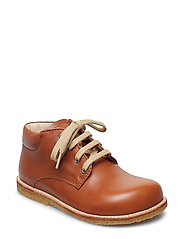 Boots - flat - with laces - 1431 COGNAC