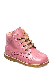 Shoes - flat - with lace - 2389 ROSE PINK