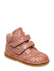 Shoes - flat - with velcro - 2491 CORAL FLOWER