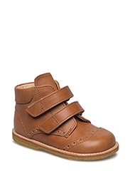 Shoes - flat - with velcro - 1789 TAN