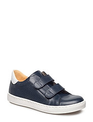 Shoes - flat - with velcro - 1454/1521 NAVY/WHITE