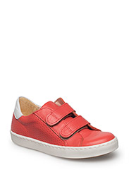 Shoes - flat - with velcro - 2408/1521 RED /WHITE