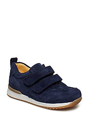 Shoes - flat - with velcro - 2197 NAVY
