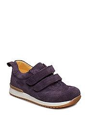 Shoes - flat - with velcro - 2203 DARK PURPLE
