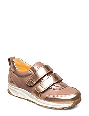 Shoes - flat - with velcro - 1311/1433 ROSE COPPER/MAKE-UP