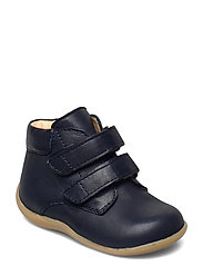 Boots - flat - with velcro - 1546 NAVY