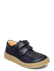 Shoes - flat - with velcro - 1546 NAVY