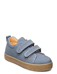 Shoes - flat - with velcro - 2673 DENIM BLUE