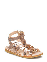 Sandal w. zipper - 1311 ROSE COPPER