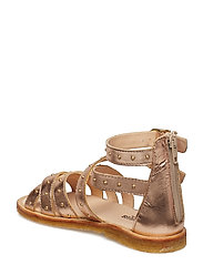 Sandal med studs and zipper