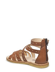 Sandal med studs and zipper