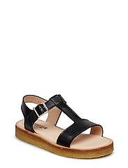 Sandals - flat - 1604 BLACK