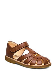 Sandal with heart detail - 1431 COGNAC
