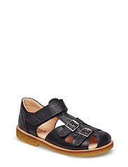 Sandal with two buckles in front - 2504 BLACK