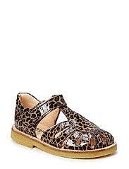 Sandals - flat - closed toe -  - 2308 BROWN LEOPARD