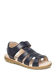 Sandals - flat - open toe - op - 1530 NAVY