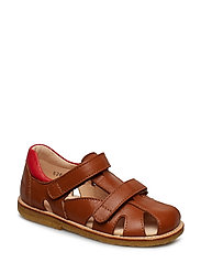 Sandals - flat - 1431/1565 COGNAC/RED