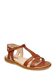 Sandal with leather sole