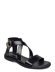 Sandals - flat - open toe - op - 1835 BLACK