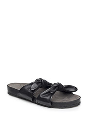 Sandals - flat - open toe - op - 1604 BLACK