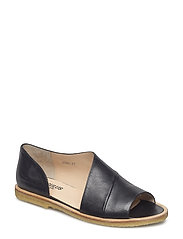 Sandals - flat - closed toe -  - 1604 BLACK