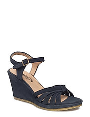 Sandals - wedge - open toe - - 1147 NAVY
