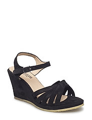 Sandals - wedge - open toe - - 1163 BLACK