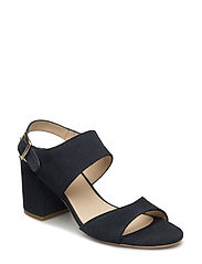 Sandals - block heels - open toe - 1530 NAVY