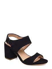 Sandals - block heels - open toe - 1163 BLACK