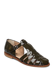 Sandals - flat - closed toe - op - 2345 OLIVE