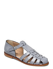 Sandals - flat - closed toe - op - 2350 GREYBLUE