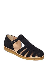 Sandals - flat - closed toe - op - 1163 BLACK