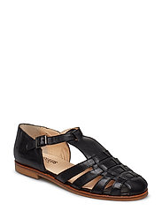 Sandals - flat - closed toe - op - 1604 BLACK