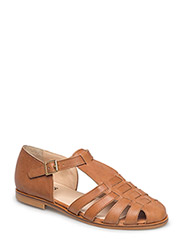 Sandals - flat - closed toe - op - 1789 TAN