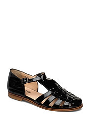 Sandals - flat - closed toe - op - 2320 BLACK