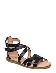Sandals - flat - open toe - clo - 1933 BLACK