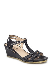 Sandals - wedge - 1604 BLACK